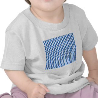 Zigzag Wide  - White and Denim Color T-shirts