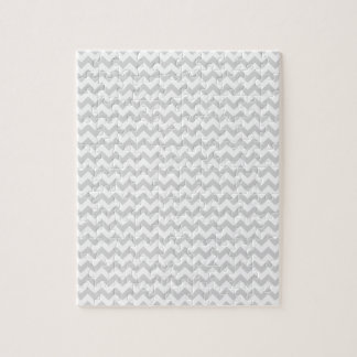 Zigzag Wide  - White and Light Gray Jigsaw Puzzle