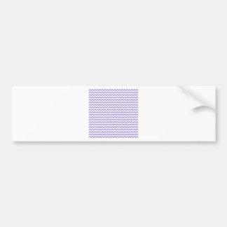 Zigzag Wide  - White and Light Pastel Purple Bumper Sticker