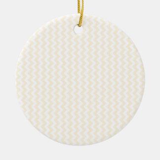 Zigzag Wide  - White and Peach Round Ceramic Decoration