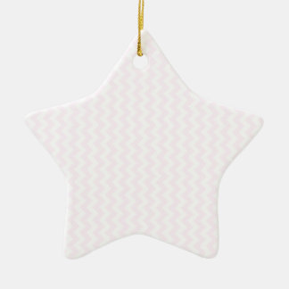 Zigzag Wide  - White and Pink Lace Ornament