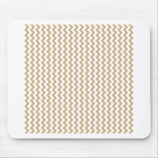 Zigzag Wide  - White and Tan Mousepads