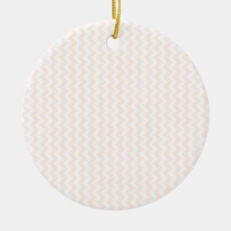 Zigzag Wide  - White and Unbleached Silk Round Ceramic Decoration