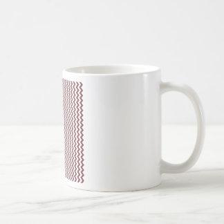 Zigzag Wide  - White and Wine Basic White Mug