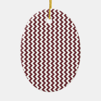 Zigzag Wide - White and Wine Ornaments