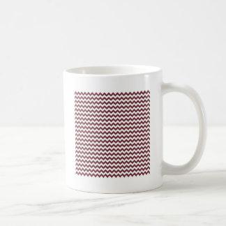 Zigzag Wide  - White and Wine Coffee Mug