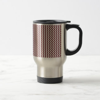 Zigzag Wide  - White and Wine Coffee Mugs