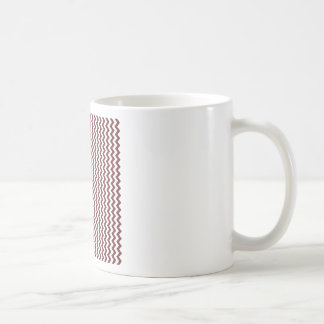 Zigzag Wide  - White and Wine Coffee Mugs