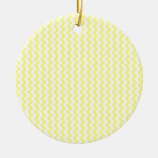 Zigzag Wide  - White and Yellow Round Ceramic Decoration