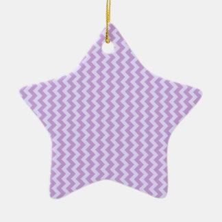 Zigzag Wide - Wisteria and Pale Lavender Ornament