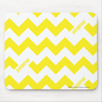 ZigZag Yellow Mouse Pad