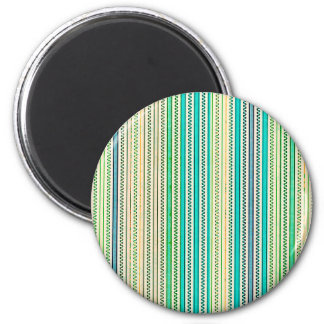 Zigzags And Stripes Of Blue And Green Shades Refrigerator Magnet