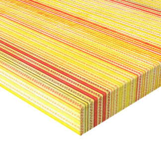 Zigzags And Stripes Orange And Yellow Shades Gallery Wrap Canvas