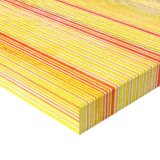 Zigzags And Stripes Orange And Yellow Shades Canvas Print