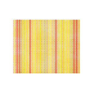 Zigzags And Stripes Orange And Yellow Shades Gallery Wrapped Canvas