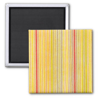 Zigzags And Stripes Orange And Yellow Shades Fridge Magnet
