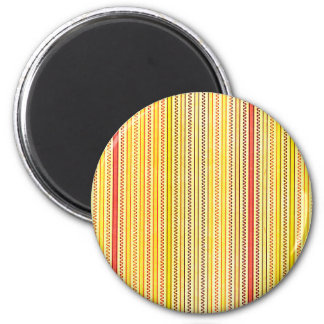 Zigzags And Stripes Orange And Yellow Shades Refrigerator Magnet
