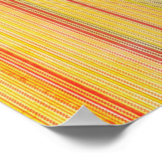 Zigzags And Stripes Orange And Yellow Shades Posters