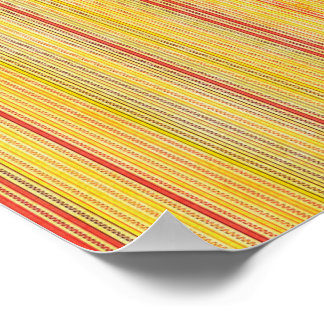 Zigzags And Stripes Orange And Yellow Shades Print
