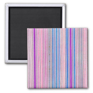 Zigzags And Stripes Purple And Blue Shades Fridge Magnet