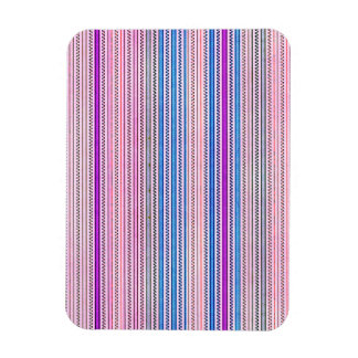 Zigzags And Stripes Purple And Blue Shades Vinyl Magnet
