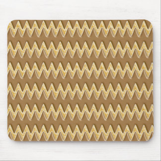 Zigzags - Chocolate Marshmallow Mouse Pad