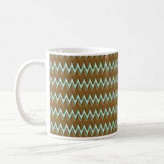 Zigzags - Chocolate Mint Coffee Mugs