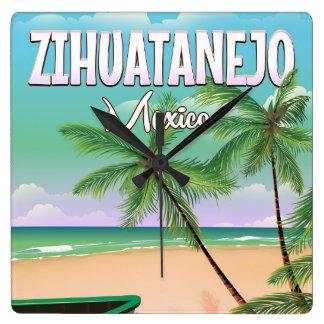 Zihuatanejo Mexican beach vacation poster Wallclocks