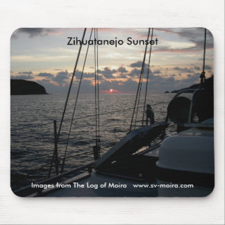 Zihuatanejo Sunset from Moira in anchorage Mouse Pad