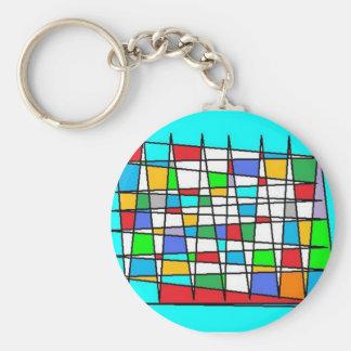 zik zak multicolored keychains