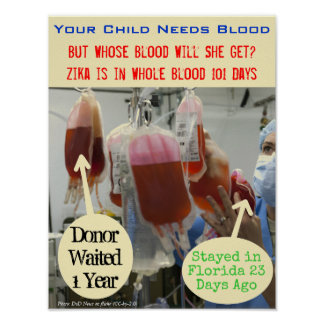 Zika in Blood 101 Days Poster by RoseWrites