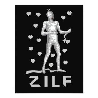Zilf Zombie 11 Cm X 14 Cm Invitation Card