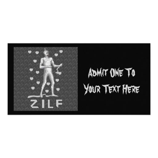 Zilf Zombie Photo Card Template