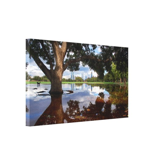 Zilker Park - Austin Texas Skyline 3 Canvas Print