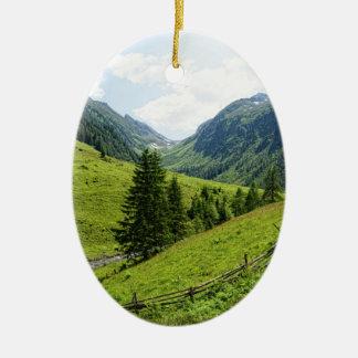 Zillertal alps landscape christmas ornaments