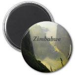 Zimbabwe 6 Cm Round Magnet