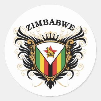 Zimbabwe Classic Round Sticker