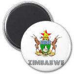 Zimbabwe Coat of Arms 6 Cm Round Magnet