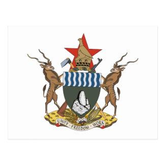 Zimbabwe Coat of Arms Postcard