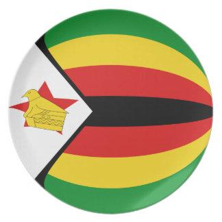 Zimbabwe Fisheye Flag Plate