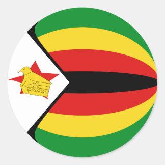 Zimbabwe Fisheye Flag Sticker