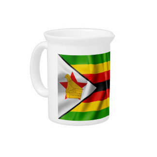 Zimbabwe Flag Beverage Pitchers