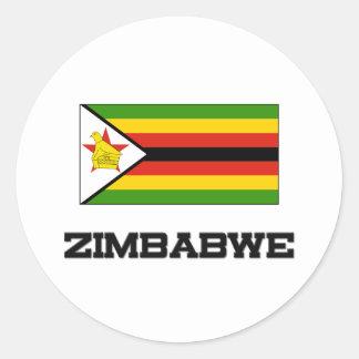 Zimbabwe Flag Classic Round Sticker