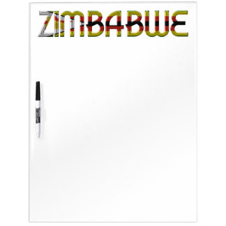 Zimbabwe Flag Colors Typography Southern Africa Dry Erase Board