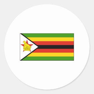 Zimbabwe FLAG International Classic Round Sticker