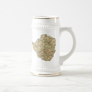 Zimbabwe Flag ~ Map Mug