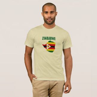 Zimbabwe Flag Map Shirt