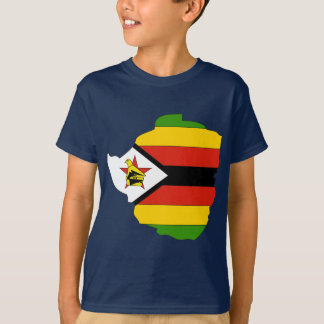 Zimbabwe flag map T-Shirt