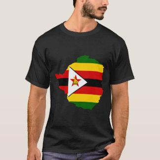 Zimbabwe Flag Map T-Shirt