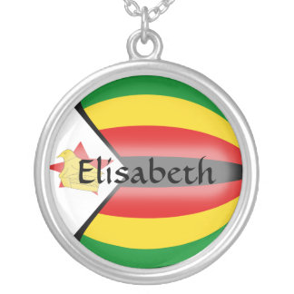 Zimbabwe Flag + Name Necklace